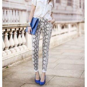 Cabi Snake Print Skinny Jeans